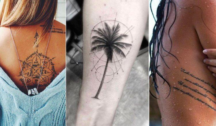 Exemple de tatouage new school sur le corps d'une femme