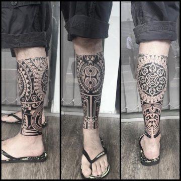 Tatouage Polynésien femme : 25+ idées de tatouages et sa signification 17
