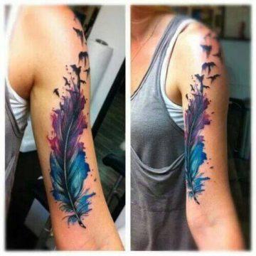 Tatouage bras femme : 50+ idées de tatouages et leur signification 292