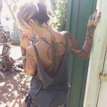 Tatouage dos femme : 50+ idées de tatouages et leurs significations 28