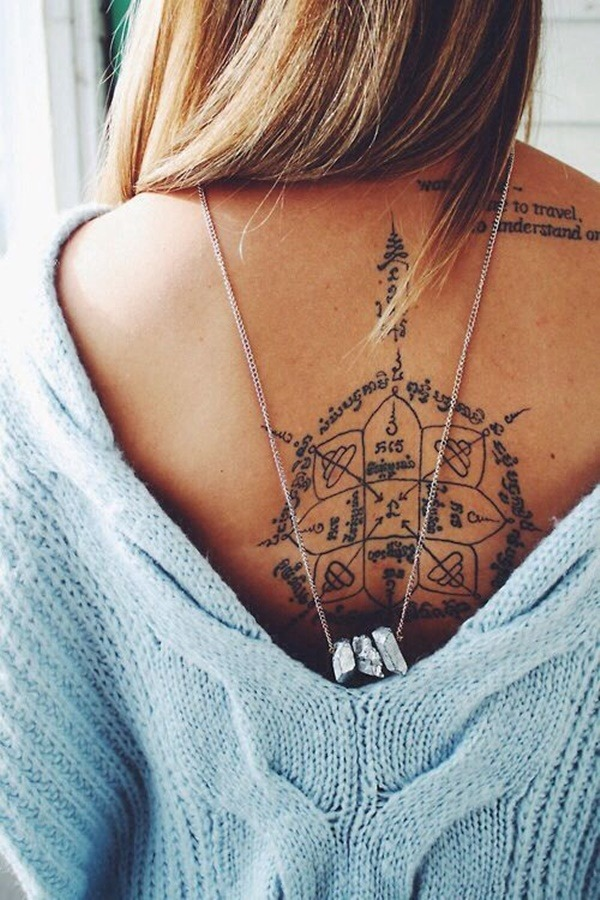 Tatouage dos femme : 50+ idées de tatouages et leurs significations 55