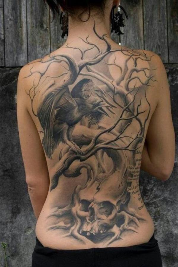Tatouage dos femme : 50+ idées de tatouages et leurs significations 75