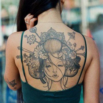 Tatouage dos femme : 50+ idées de tatouages et leurs significations 82
