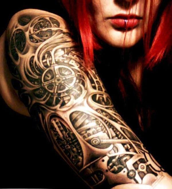 Tatouage Biomécanique Femme 15 Idées De Tatouages Et Sa