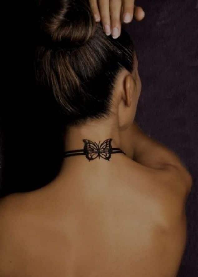 Tatouage Nuque Femme 30 Idees De Tatouages Et Leurs