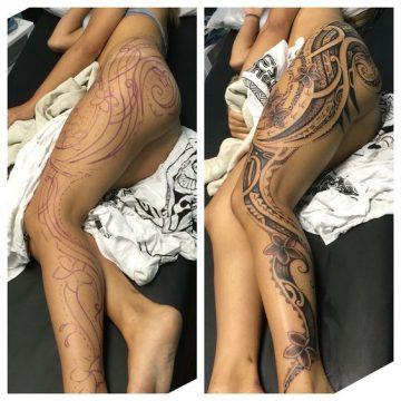Tatouage Polynésien femme : 25+ idées de tatouages et sa signification 27
