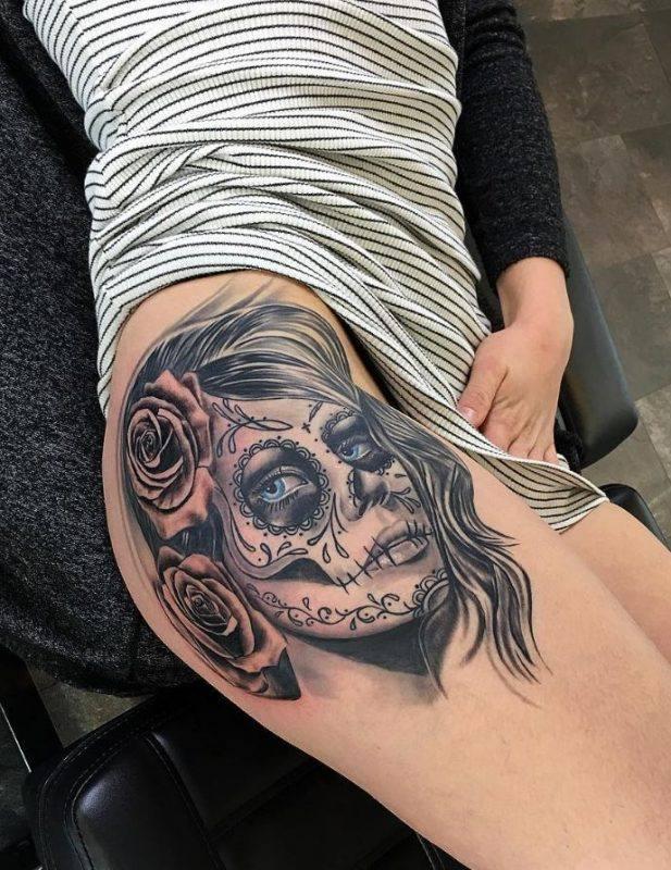 Tatouage Macabre femme : 20+ idées de tatouages et sa signification 11