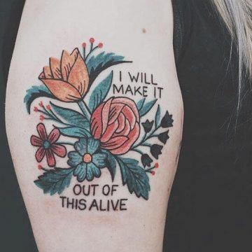 Tatouage Phrase femme : 35+ idées de tatouages et sa signification 5