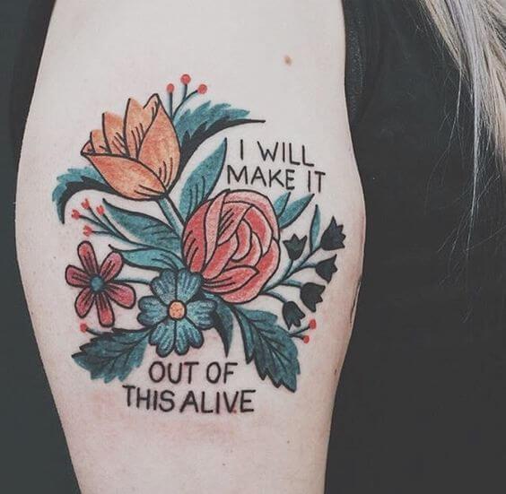 Tatouage Phrase femme : 35+ idées de tatouages et sa signification 4