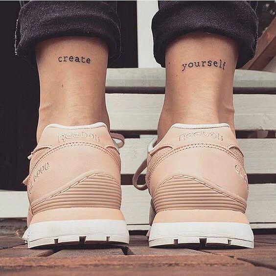 Tatouage Phrase femme : 35+ idées de tatouages et sa signification 10