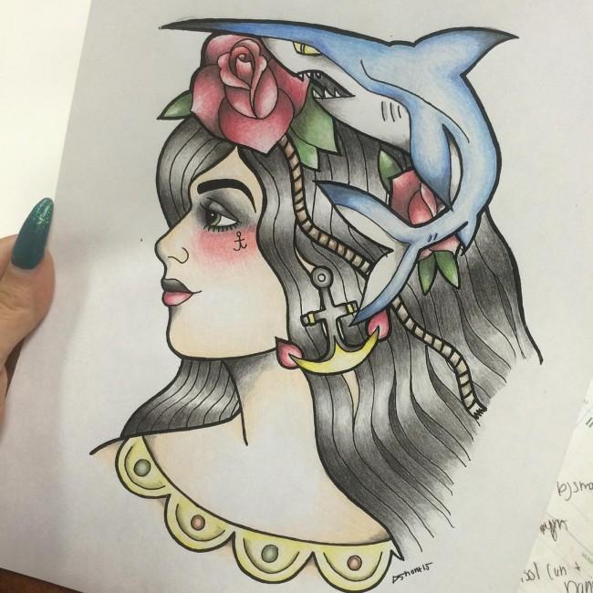 Tatouage Old School femme : 25+ idées de tatouages et sa signification 7