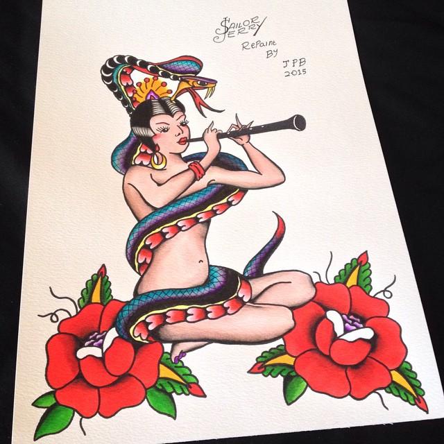 Tatouage Old School femme : 25+ idées de tatouages et sa signification 32