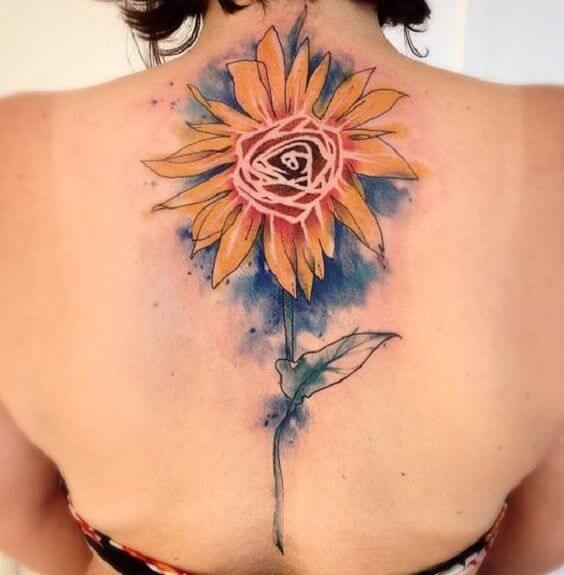 50 idées de tatouages de tournesol pour femme 48