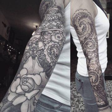 Tatouage bras femme : 50+ idées de tatouages et leur signification 352