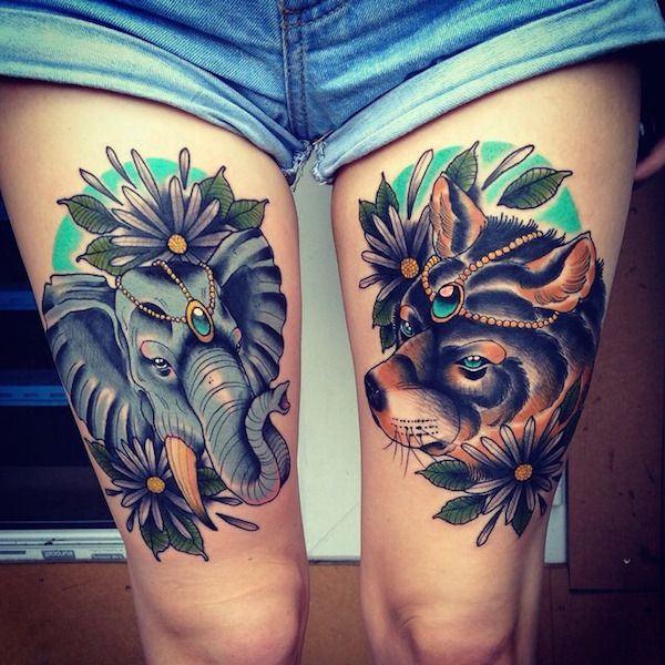 Tatouage cuisse femme : 30+ idées de tatouages et leurs significations 5