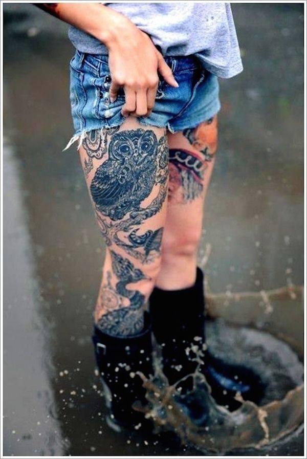 Tatouage cuisse femme : 30+ idées de tatouages et leurs significations 6