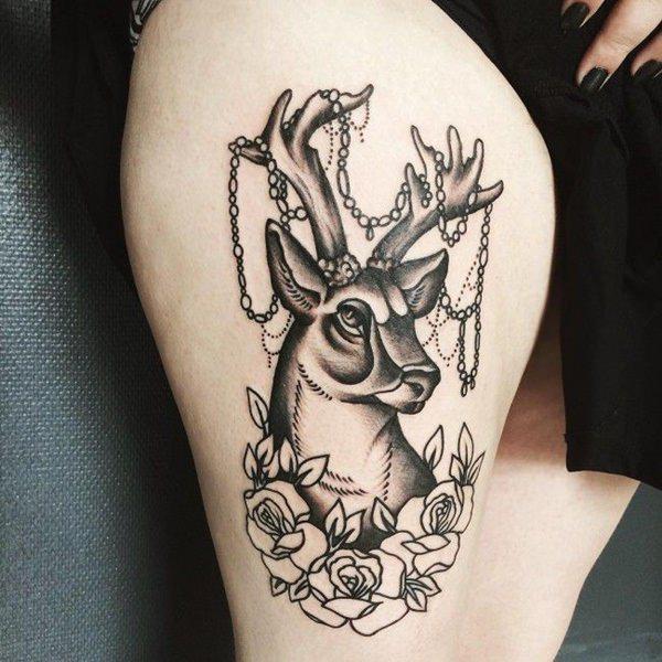 Tatouage cuisse femme : 30+ idées de tatouages et leurs significations 12