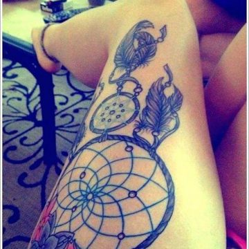 Tatouage cuisse femme : 30+ idées de tatouages et leurs significations 204