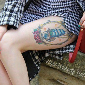 Tatouage cuisse femme : 30+ idées de tatouages et leurs significations 208