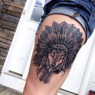 Tatouage cuisse femme : 30+ idées de tatouages et leurs significations 211