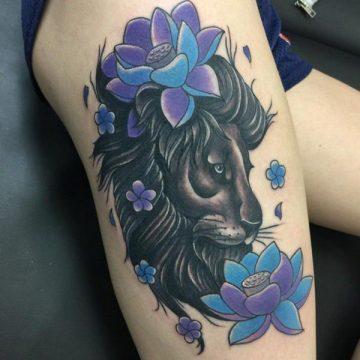 Tatouage cuisse femme : 30+ idées de tatouages et leurs significations 219