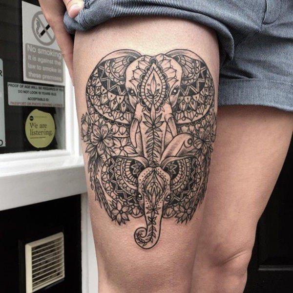 Tatouage cuisse femme : 30+ idées de tatouages et leurs significations 34