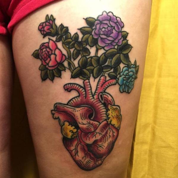Tatouage cuisse femme : 30+ idées de tatouages et leurs significations 41