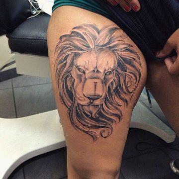 Tatouage cuisse femme : 30+ idées de tatouages et leurs significations 237
