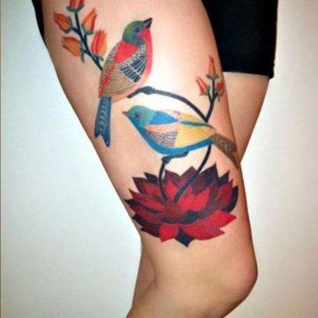 Tatouage cuisse femme : 30+ idées de tatouages et leurs significations 288