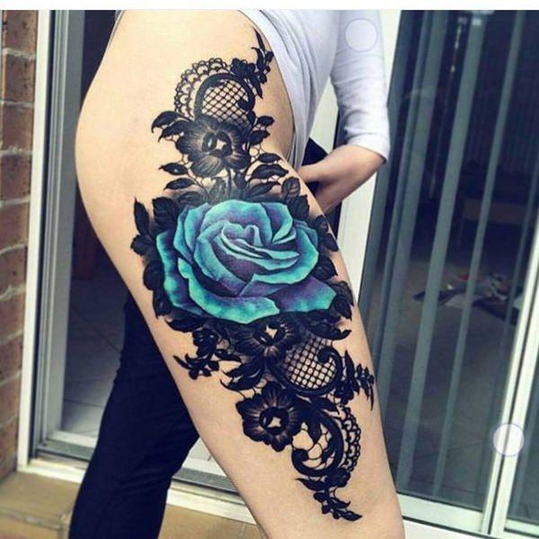 Tatouage cuisse femme : 30+ idées de tatouages et leurs significations 102