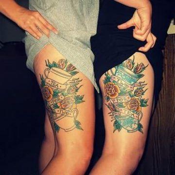 Tatouage cuisse femme : 30+ idées de tatouages et leurs significations 297