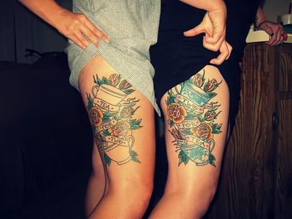 Tatouage cuisse femme : 30+ idées de tatouages et leurs significations 108