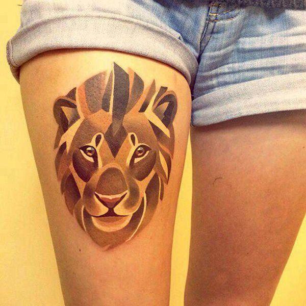 Tatouage cuisse femme : 30+ idées de tatouages et leurs significations 115