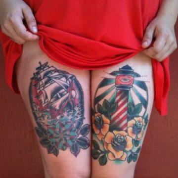Tatouage cuisse femme : 30+ idées de tatouages et leurs significations 309