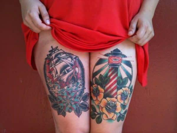 Tatouage cuisse femme : 30+ idées de tatouages et leurs significations 120