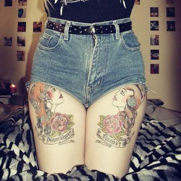 Tatouage cuisse femme : 30+ idées de tatouages et leurs significations 321