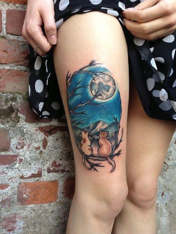 Tatouage cuisse femme : 30+ idées de tatouages et leurs significations 133