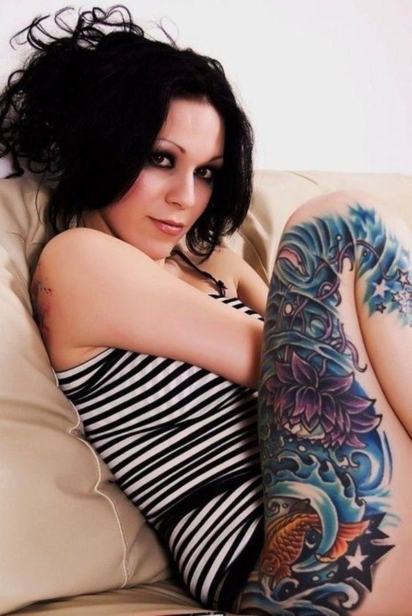 Tatouage cuisse femme : 30+ idées de tatouages et leurs significations 136