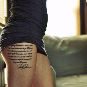 Tatouage cuisse femme : 30+ idées de tatouages et leurs significations 139