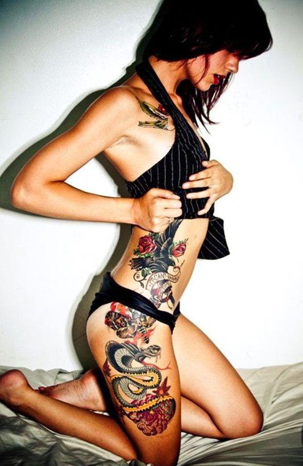 Tatouage cuisse femme : 30+ idées de tatouages et leurs significations 140