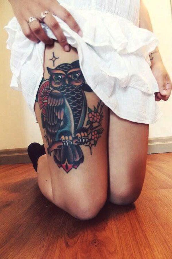 Tatouage cuisse femme : 30+ idées de tatouages et leurs significations 142
