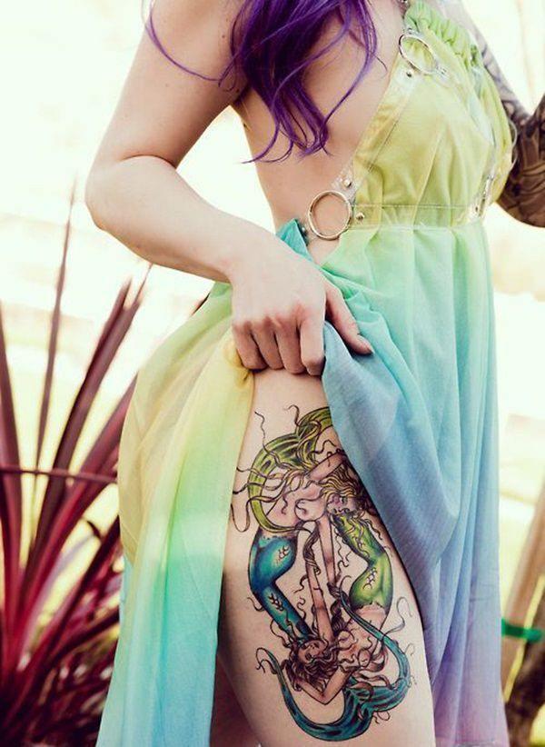 Tatouage cuisse femme : 30+ idées de tatouages et leurs significations 147