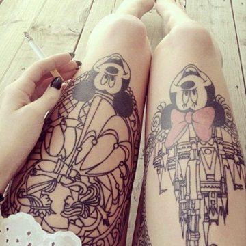 Tatouage cuisse femme : 30+ idées de tatouages et leurs significations 340
