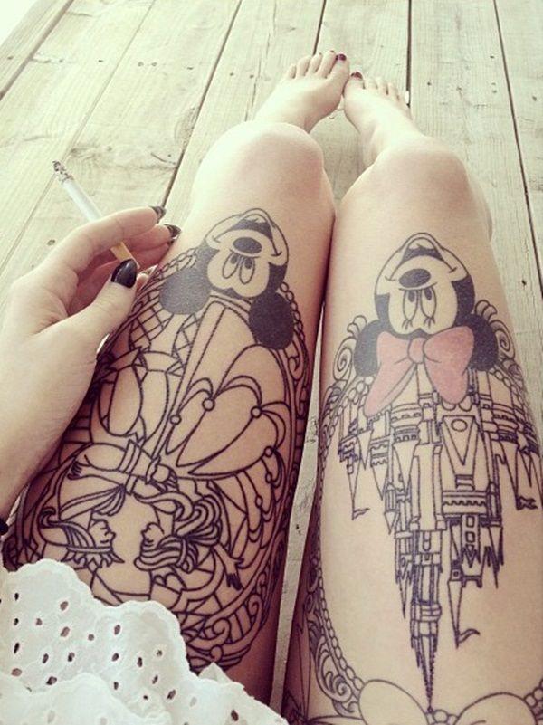Tatouage cuisse femme : 30+ idées de tatouages et leurs significations 151