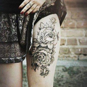 Tatouage cuisse femme : 30+ idées de tatouages et leurs significations 341
