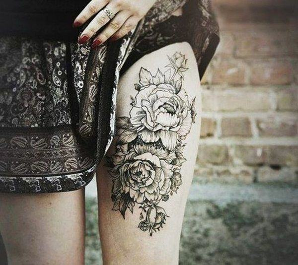 Tatouage cuisse femme : 30+ idées de tatouages et leurs significations 152