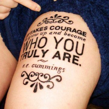 Tatouage cuisse femme : 30+ idées de tatouages et leurs significations 347