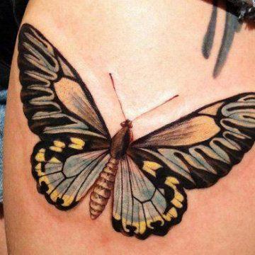 Tatouage cuisse femme : 30+ idées de tatouages et leurs significations 349