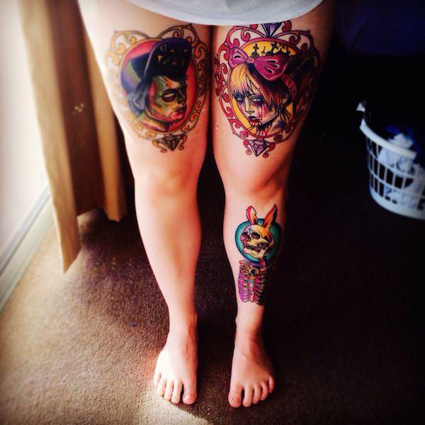 Tatouage cuisse femme : 30+ idées de tatouages et leurs significations 177