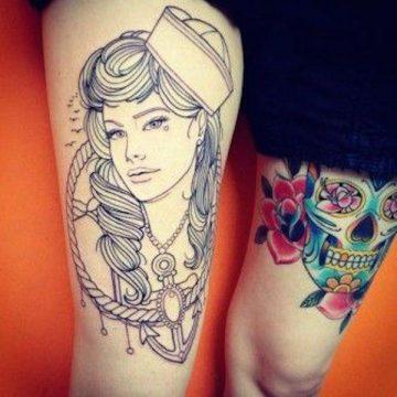 Tatouage cuisse femme : 30+ idées de tatouages et leurs significations 370